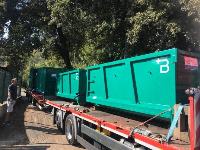 nouvelles bennes de chantier location de bennes recyclage triage environnement c a l. Black Bedroom Furniture Sets. Home Design Ideas