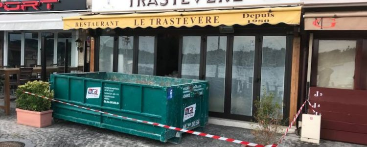 location benne chantier rénovation villefranche sur mer