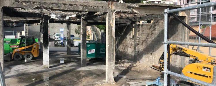 location benne monaco pour evacuer gravats incendie
